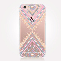 Transparent Tribal Pattern iPhone Case - Transparent Case - Clear Case - Transparent iPhone 6 - Transparent iPhone 5 - Transparent iPhone 4