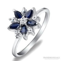 Silver Sapphire Ring JW0103