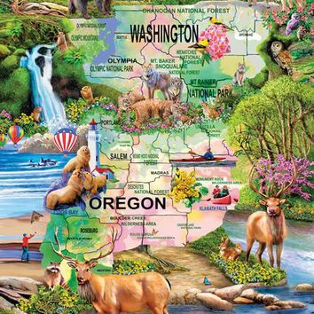 Pacific Northwest Adventure 1000+pc Jigsaw Puzzle