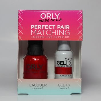 ORLY Perfect Pair Nail Polish + Gelfx Duo Kit Sunset blvd