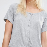 Vila Button Down Tee