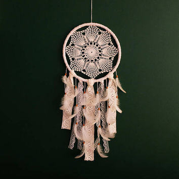 Large Dream Catcher for Wedding or Nursery Decor, Giant Dream catcher, White Dream Catcher, White Dreamcatcher, Crochet Dreamcatcher, Boho