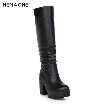 NEMAONE Boots Sexy over the knee high 2017 women snow boots women's fashion winter thigh high boots shoes woman
