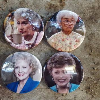"Magnets:  2.25"" 58MM The Golden Girls Set of 4 Magnets Dorothy Blanche Sofia and Rose"