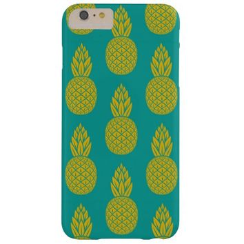 Tropical Hawaiian Pineapple Pattern Barely There iPhone 6 Plus Case