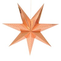 "Holiday Hanging Star Large 30"" Copper"