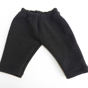 "American Girl Bitty Baby Clothes 15"" Doll Clothes Black Fall Autumn Winter Fashion Elastic Waist Sweatpants"