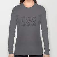 Nick Jonas God Is Greater Than The Highs & The Lows Long Sleeve T-shirt by ArtKeptSimple