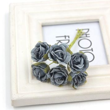 Decorative Mini Artificial Rose Flower Bouquet
