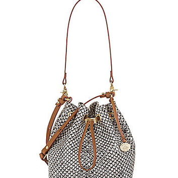 Brahmin Black Java Collection Maxine Snake-Embossed Convertible Drawstring Bag | Dillards.com