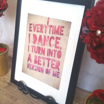 Dance Wall Decor, Dance Art, Dance Quotes, Burlap Print