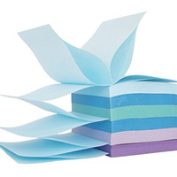 """Staples Stickies 3"""" x 3"""" Assorted Watercolor Pop-Up Notes, 6/Pack"""