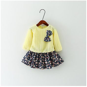 Summer Baby Girl Dress 2016 New Princess Dress Baby Girls Party for Toddler Girl Dresses Clothing Long sleeve tutu Kids Clothes