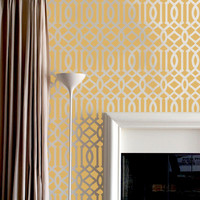 Wall Stencil Lattice Trellis Allower Pattern Wall Room Decor Made by OMG Stencils Home Improvements Color Paintings 0004