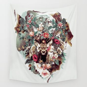 Deer Wall Tapestry by RIZA PEKER