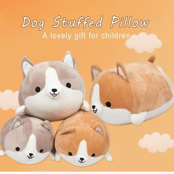 New Cute Corgi Dog Plush Toy Pillow Stuffed Soft Animal Cartoon Pillow Lovely Christmas Gift For Kids Kawaii Valentine Present