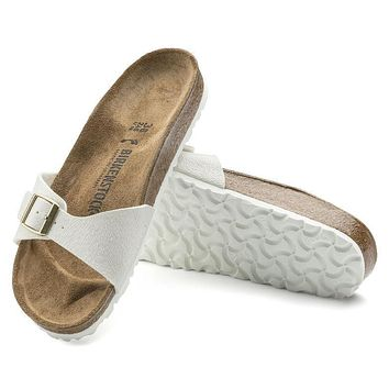 Best Online Sale Birkenstock Madrid Birko Flor Animal Fascination Off White 1008636 Sa