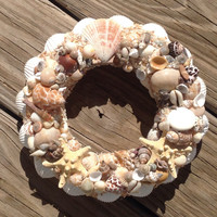 Starfish Wreath, Seashell Nautical Decor, Shell Housewarming Gifts