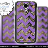 Camo Purple Chevron Galaxy S4 case S5 Real Tree Camo Deer Personalized Monogram Samsung Galaxy S3 Case Note 2 3 Cover