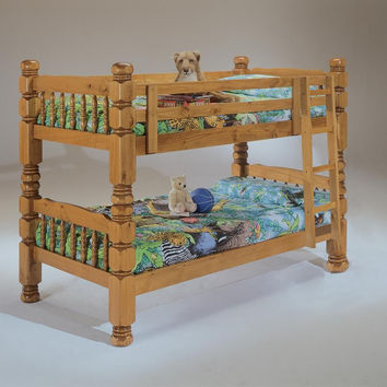 Dillon Twin over Twin Honey Pine Bunkbed