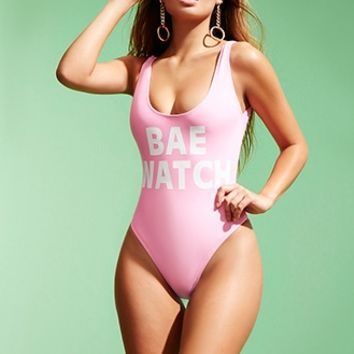 Bae Watch Graphic One-Piece