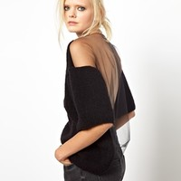 Ashish Mohair Jumper with Mesh Back