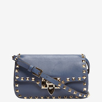 Valentino Rockstud Mini Flap Crossbody: Marine | Shop IntermixOnline.com