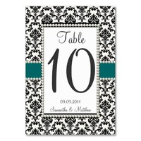 VINTAGE 1920's ART DECO DAMASK PEARL TABLE NUMBERS