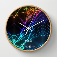 Broken, rupture, damaged, cracked out black apple iPhone 4 5 5s 5c, ipad, pillow case and tshirt Wall Clock by Three Second