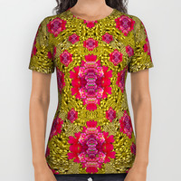 Fantasy-flowers to brighten up in gold All Over Print Shirt by Pepita Selles