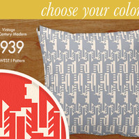 """Custom Mid-Century Modern Pattern Pillow - Midwest I - Throw Pillow, 16x16"""" or 20x20"""" pillow or pillow cover - laurenmary original design"""