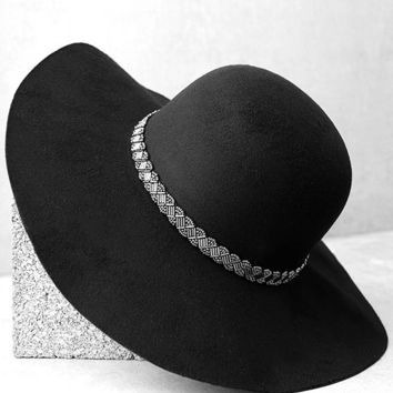 From Around Here Black Floppy Hat