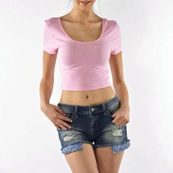 Basic Crop Top - Pink Ed