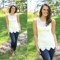 Graced In Lace Top in Ivory