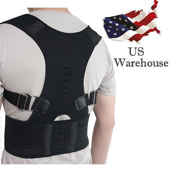 Aptoco Magnetic Therapy Posture Corrector Brace Shoulder Back Support Belt