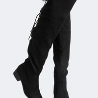 Carmel Lace Up Thigh High Boot
