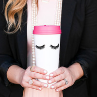 Eyelashes Travel Mug