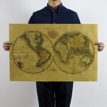 Old World Map Poster 28X18