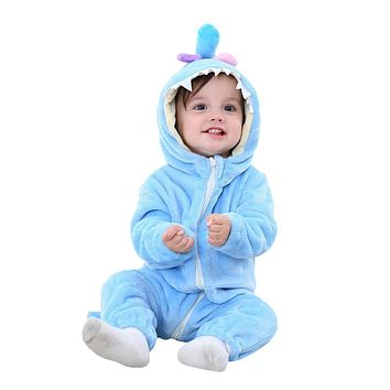 2018 Infant Romper Baby Boys Girls Jumpsuit New born Baby Clothing Hooded Toddler Baby Clothes Cute Panda Romper Baby Costumes