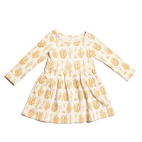 Yellow Cactus Girl Dress - 3T