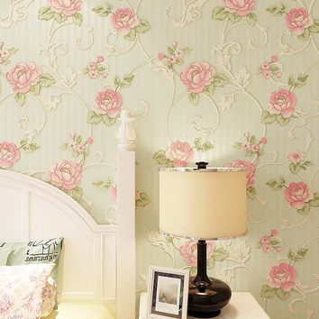 beibehang Romantic garden flowers Wall Paper Home Decor Background Damask wallpaper for walls 3d Wallcovering for Living Room