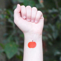 Temporary Tattoo - Halloween Tattoo - Pumpkin Tattoo - Halloween Pumpkin
