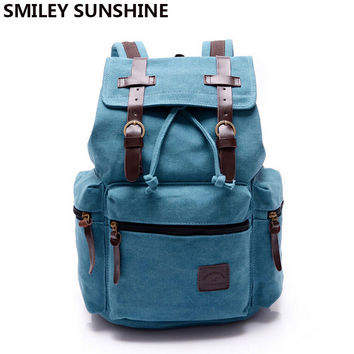 Canvas Men Backpack Korean Boy School Bags Large Laptop Male Backpack Vintage Bagpack Travel Bag Book bags mochilas sac a dos