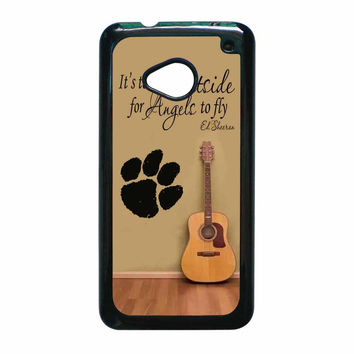 Ed Sheeran Guitar And Song Quotes HTC One M7 Case