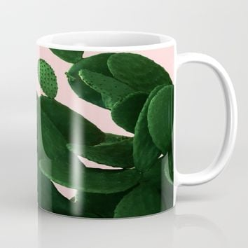 Cactus On Pink Mug by ARTbyJWP