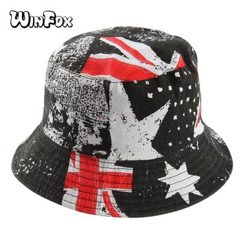 Winfox Fashion Black Pink White Cartoon Giraffe Deer Bucket Hat Hip Hop Men Women Bob Beach Fishing Cap Outdoor Panama Hats