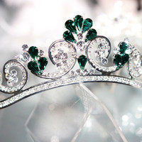 Unique handmade tiaras for wedding , princess tiara crown ,crystal tiara hand made for order inlaid with SWAROVSKI  Crystals