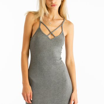 Up In Smoke Dress in Charcoal