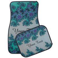 Personalized Blue Green Fractal Car Mats Floor Mat
