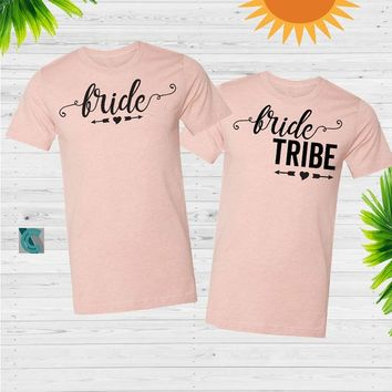 Bride, Bride tribe unisex tshirt, Wedding shirts, Bachelorette shirts,  Bachelorette party tanks Unisex t-shirt, shirts, bestie shirt